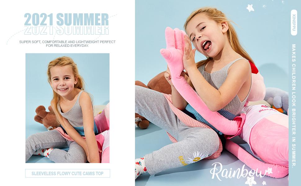 Summer Sleeveless Flowy Cute Camis Top