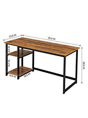 computer desk with shelf