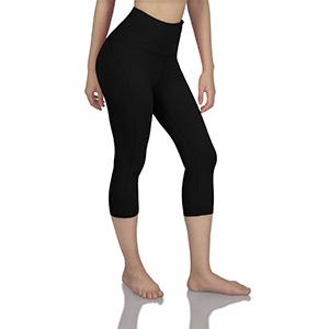 ODODOS Tummy Control Side Stitch Yoga Capris