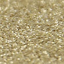 gold glitter swatch close up detail image