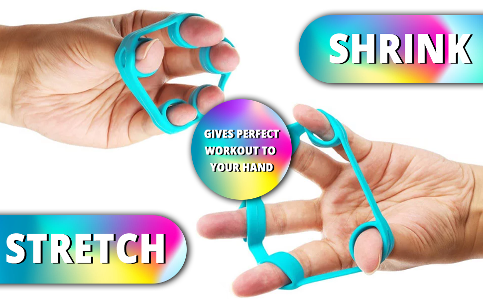 SPN-TP3A0 Izoo Silicone Resistance Bands Hand Grip Strengthener Extender Trainer Set of 3