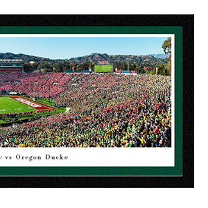 Amazon Com 2020 Rose Bowl Game Oregon Vs Wisconsin 44x18 Inch Double Mat Deluxe Framed Picture By Blakeway Panoramas Sports Outdoors