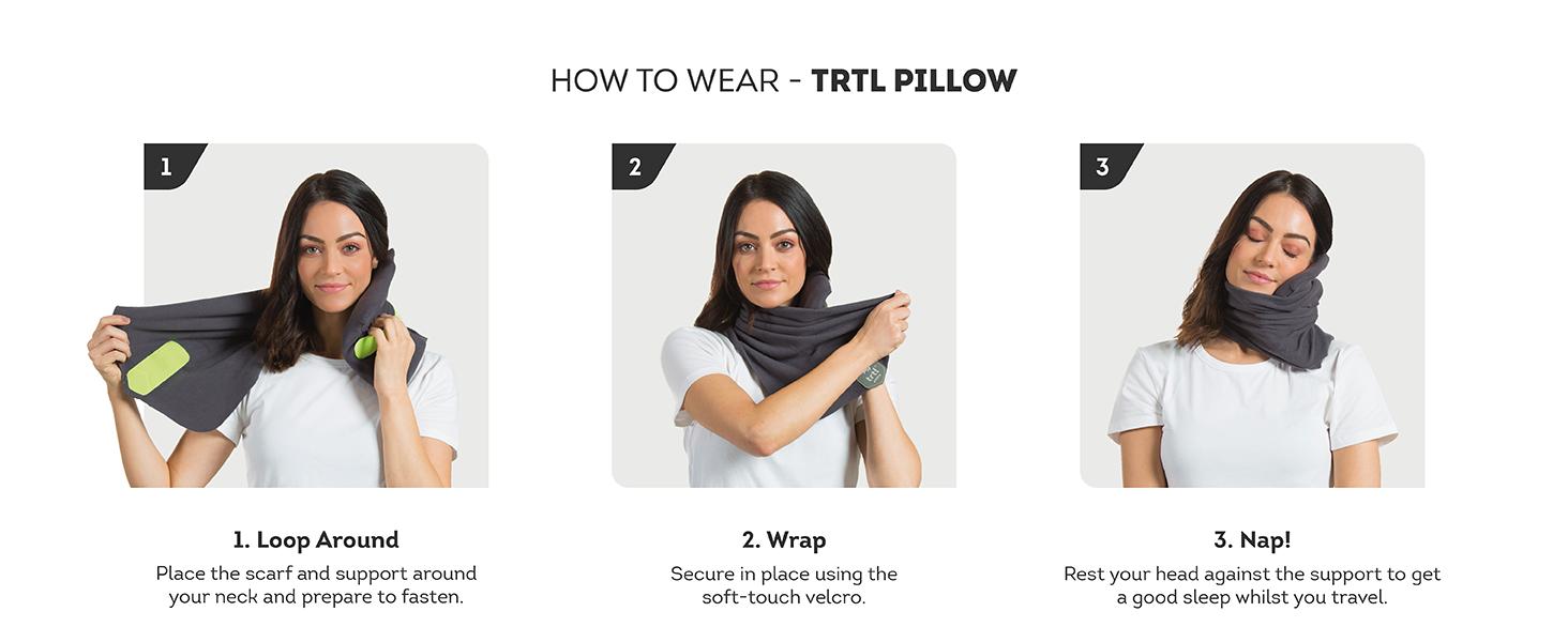 How to Wear Trtl Pillow
