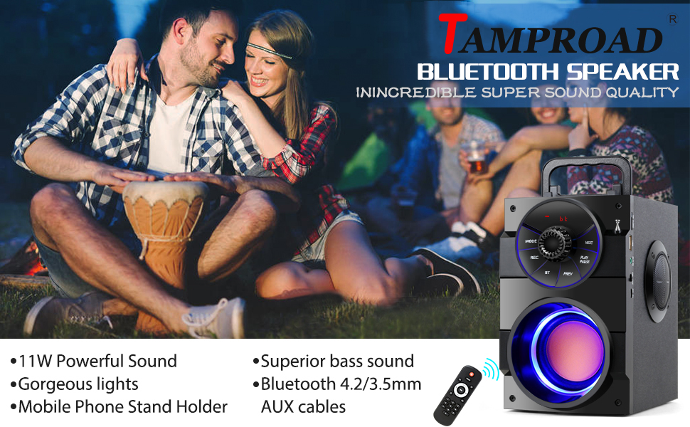 TAMPROAD BLUETOOTH SPEAKERS