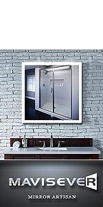 mavisever 36 x 36 inch backlit mirror bathroom wall mounted led light vanity mordern mirror