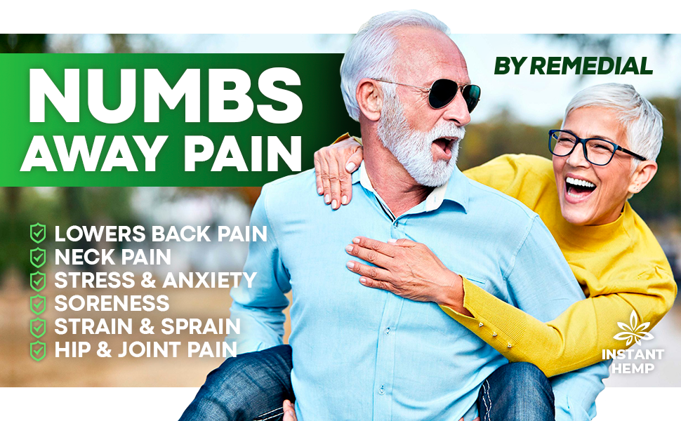 numbs away pain lowers back pain neck pain stress anxiety soreness strain hip joint pain