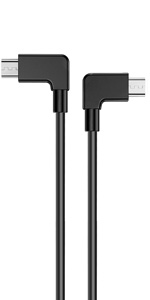 PRO OTG Cable Works for Lava A72 Right Angle Cable Connects You to Any Compatible USB Device with MicroUSB
