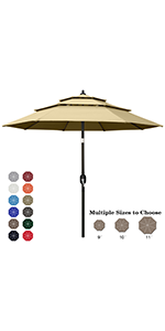 3-Tiers Patio Umbrella