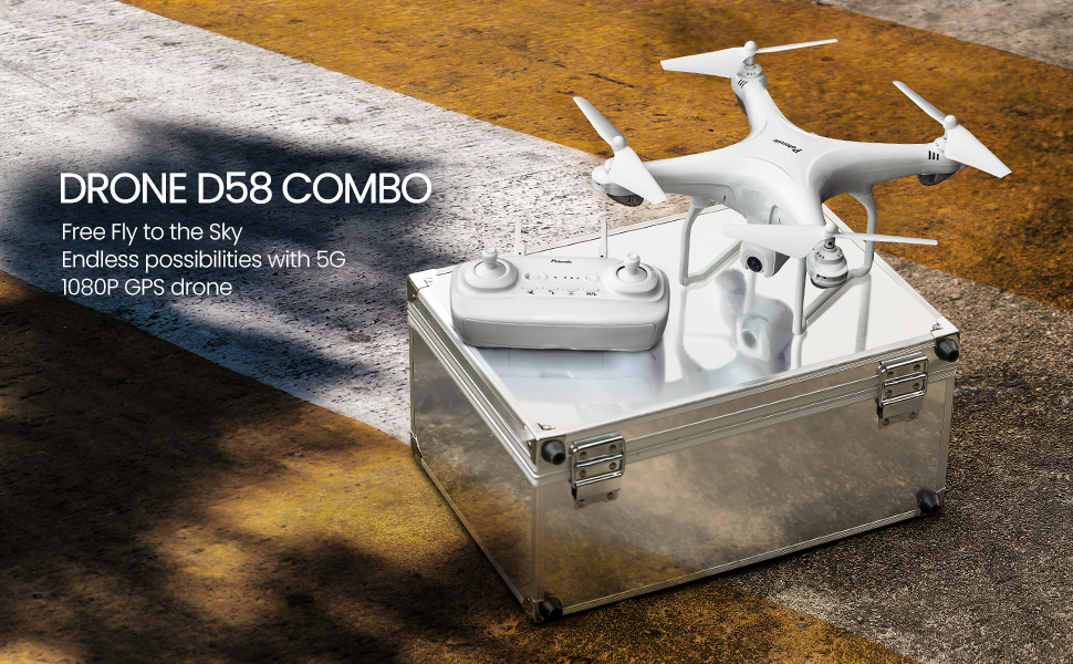 POTENSIC DRONE D58 WHITE COMBO