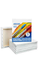 """8x10"""" stretched canvases 8 pack"""