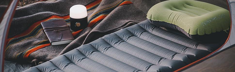 inflating sleeping pad