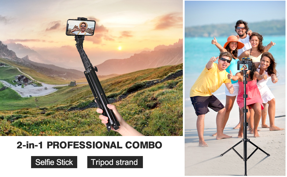 60in selfie stick tripod