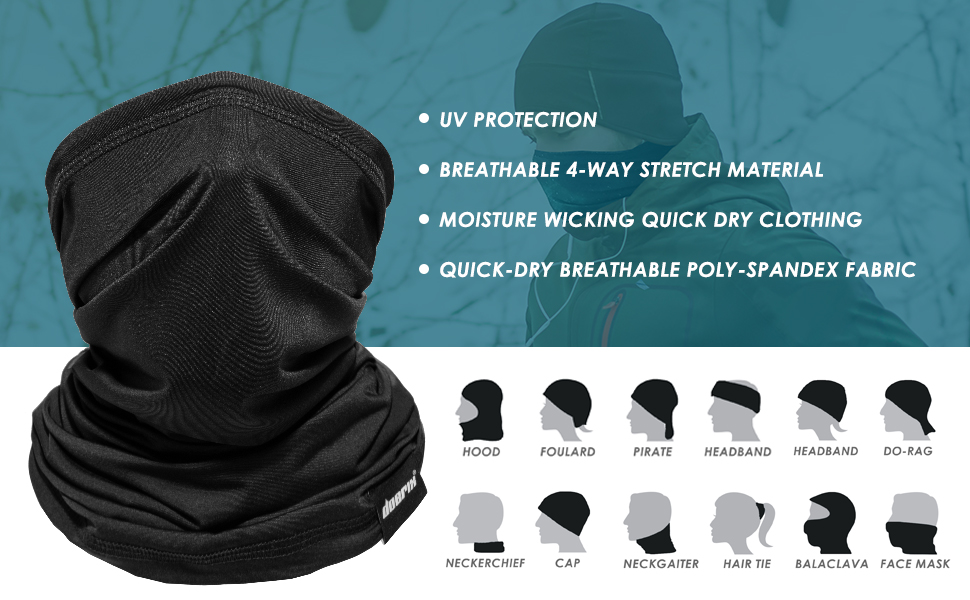 Headband Non Medical Essential Workers Unisex Reusable Face Cover Front Lines Essential Worker Neck Gaiter