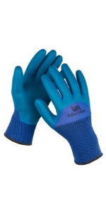 WG017 safety work gloves nylon coated latex power grip
