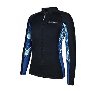 wetsuits tops women diving jacket lady neoprene suit surfing snorkeling kayaking suit tops jacket