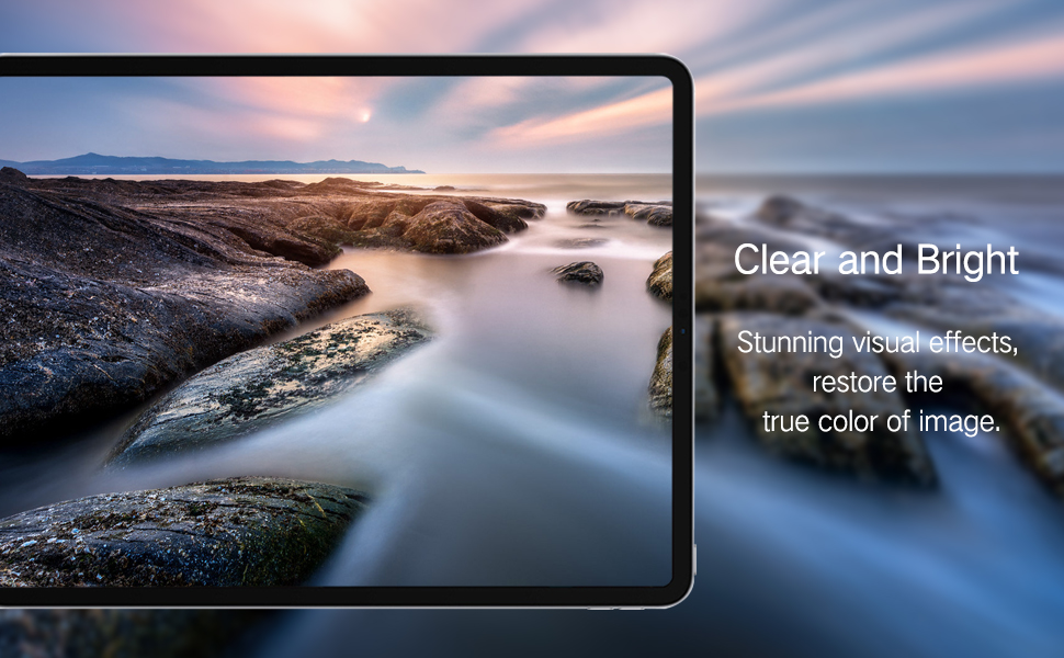 high definition clear effect for iPad pro 12.9 2018