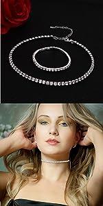 single diamond choker