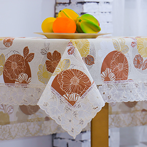 Part of the tablecloth