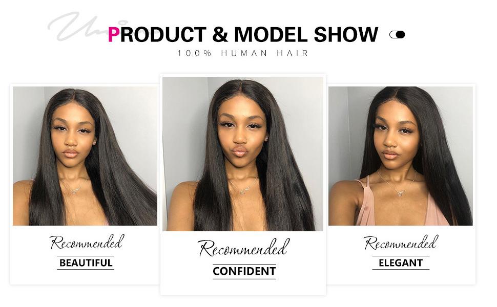 u part human hair half wig