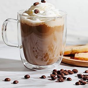 Double wall coffee mugs insulated