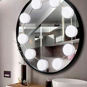 vanity mirror light in the bath