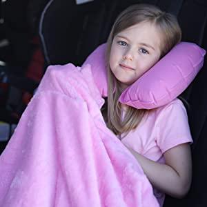 young girl travel blanket