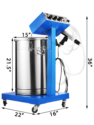 Elektrostatische poedercoatingmachine
