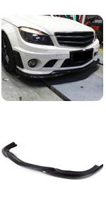 Benz W204 C63 Bumper 2008-2011 Carbon Fiber Front Chin Spoiler Bumper Lip
