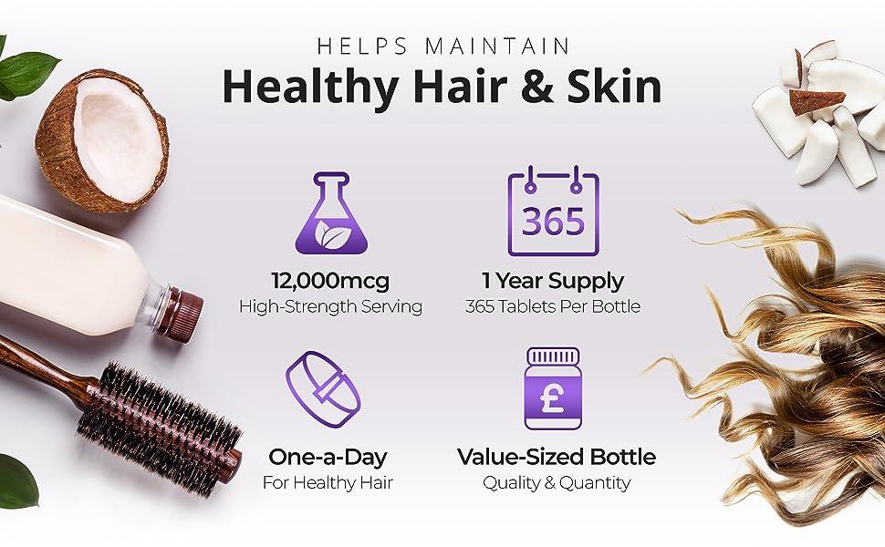 Biotin hair tablets