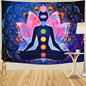 Hippie Yoga Wall Tapestry