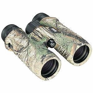 Three quarter view of Bushnell Trophy Binoculars