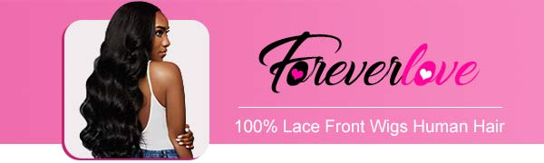 Foreverlove 100% lace front wigs human hair