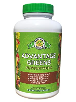 Choice Health Formula Advantage Greens Healthy Organic Fruits Veggies Women Men Capsules Daily Skin