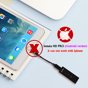 Sonata HD PRO(Android version) can not work with iPhone