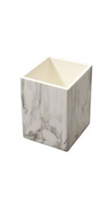 white marble pen pencil holder