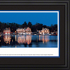 Boat House Row at night with deluxe frame