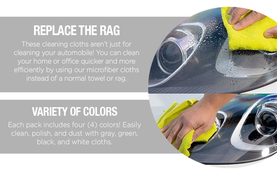 replace the rag, variety of colors