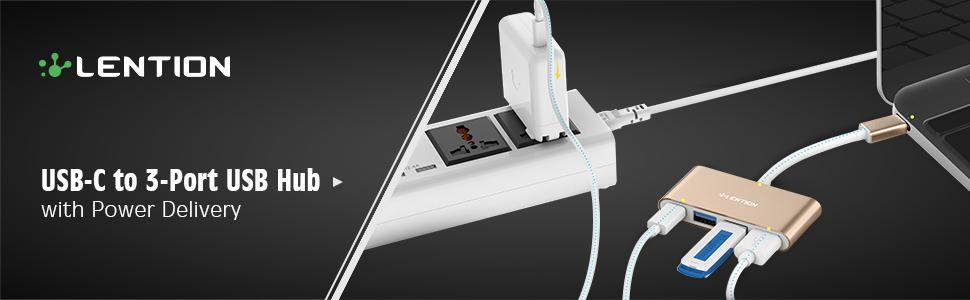 USB-C to 3-Port USB Hub