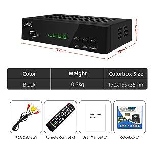 UBISHENG Set-Top Box/ TV Box/ ATSC Tuner