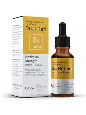 LaClaire, Retinol. Vitamin A, anti aging serum, face serum, 5% retinol, 2% retinol