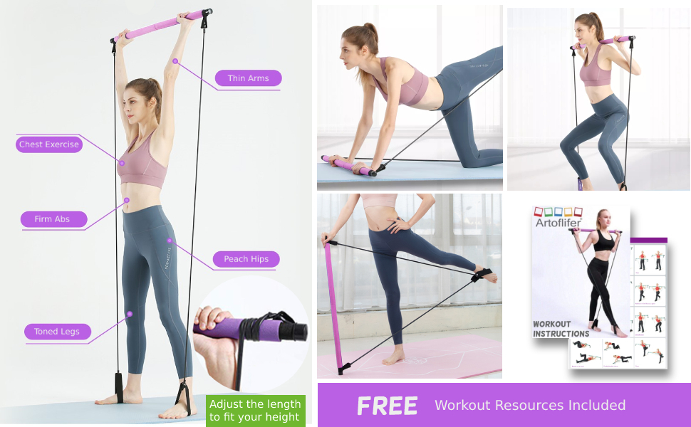 Portable Yoga Pilates bar