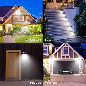 security solar light for garden yard deck light wall light garage