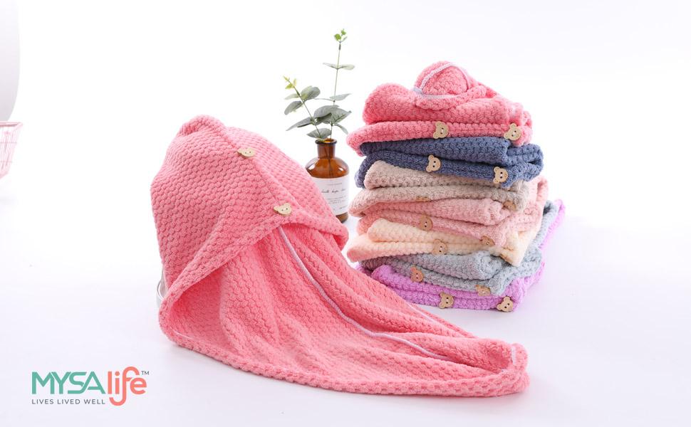 microfiber hair turban microfiber hair wrap microfiber towel for curly hair microfiber travel towel