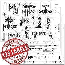 bathroom script label set