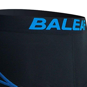 Taglia L Colore: Nero//Blu con Imbottitura 3D Pantaloncini da Ciclismo da Uomo BALEAF Padded Cool Max Bicycle