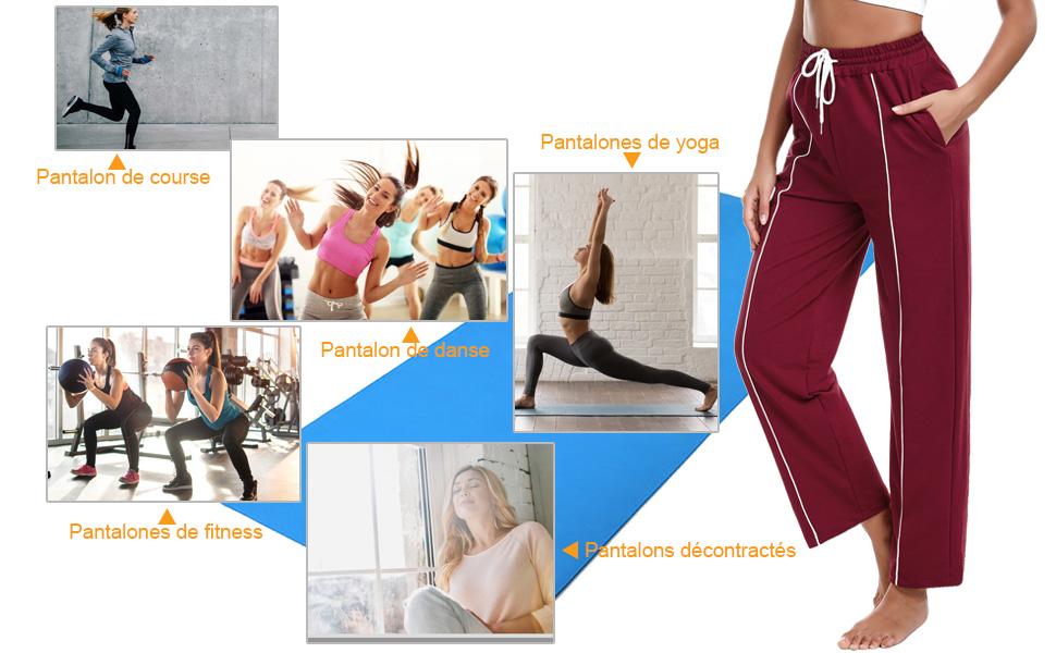 Sykooria Ensemble Leggings de Yoga Femme Pantalon et D/ébarteur de Fitness