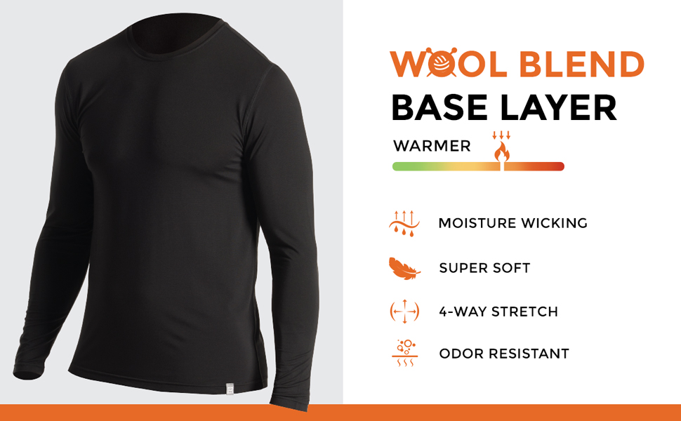 Avalanche Wool Blend Base Layer