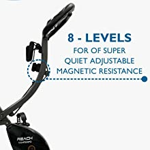 Resistance Magnetic Reach Contempo Foldable Exercise Cycle