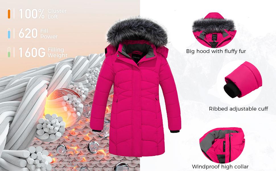 Wantdo Girl's Long Winter Coat