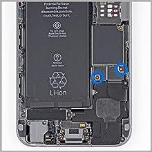 MMOBIEL Repuesto Conector Dock de Carga Compatible con iPhone 6 (Plateado/Blanco), Incl. 2 X Destornilladores
